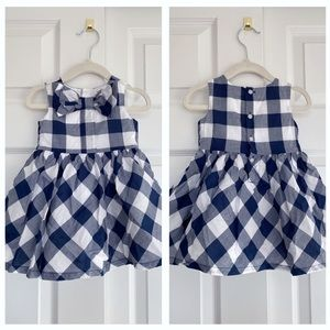 Carter's girls blue and white plaid dress.
